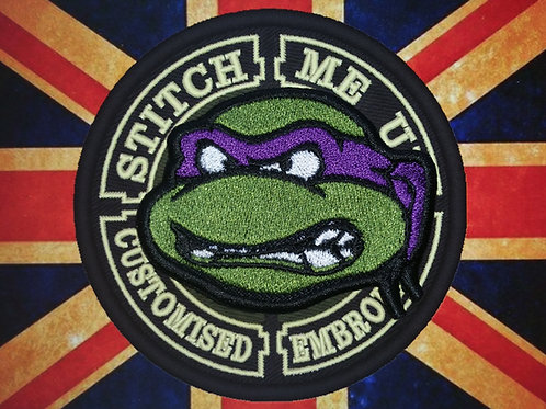 EMBROIDERED PATCH OF DONATELLO TMNT