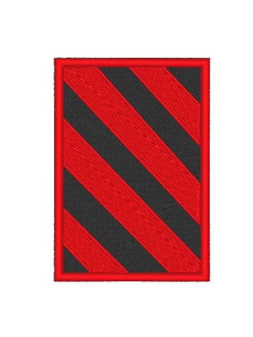 TV/ MOVIE - COSPLAY PATCH - COLONY , RED BLACK HAZARD REVERSED