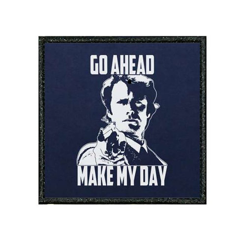 THERMAL VINYL PATCH -DIRTY HARRY MAKE MY DAY