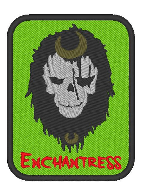 EMBROIDERED TV / MOVIE PATCH - SUICIDE SQUAD LOGO ENCHANTRESS