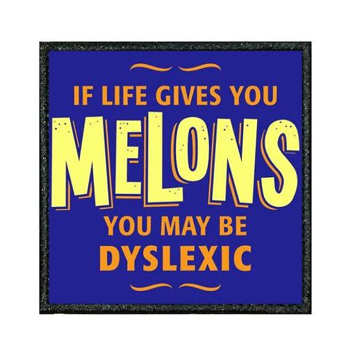 THERMAL VINYL PATCH - DYSLEXIC MELONS