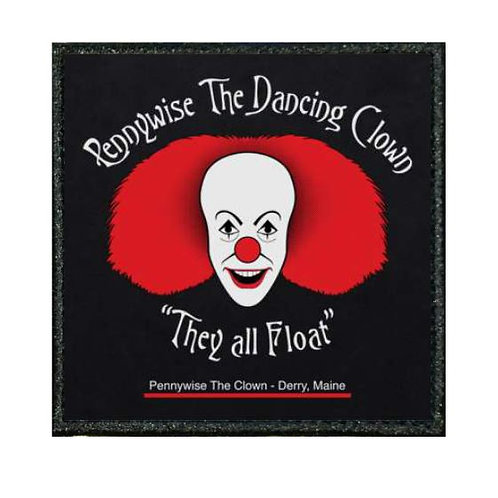 THERMAL VINYL PATCH - IT  PENNYWISE CLOWN