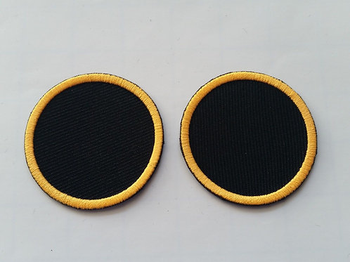 "EMBROIDERED PAIR OF ORANGE RINGS ""SHD"" DIVISION PATCHES"