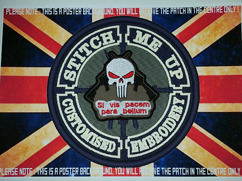 MORALE PATCH - PUNISHER WITH SI VIS PACEM PARA BELLUM