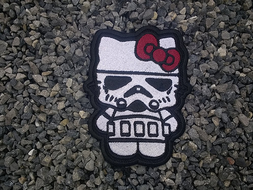 EMBROIDERED MORALE PATCH - STAR WARS HELLO KITTY STORMTROOPER