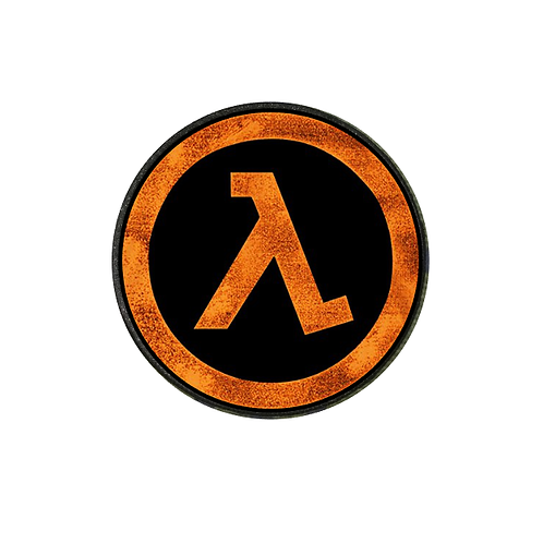 HALF LIFE LOGO PATCH IN THERMAL IMAGE VINYL