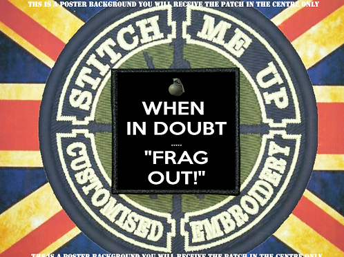MORALE PATCH - FRAG OUT
