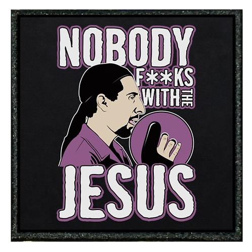 THERMAL VINYL PATCH - BIG LEBOWSKI NOBODY FUCKS WITH JESUS