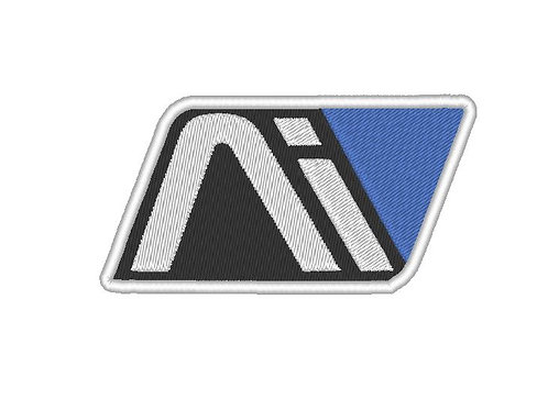 EMBROIDERED MASS EFFECT ANDROMEDA AI LOGO WHITE