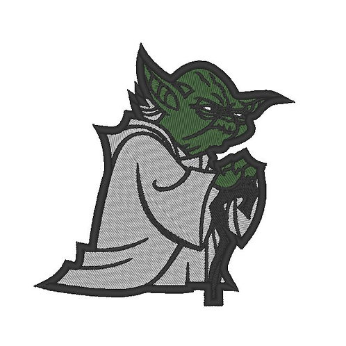 EMBROIDERED STAR WARS - YODA PATCH