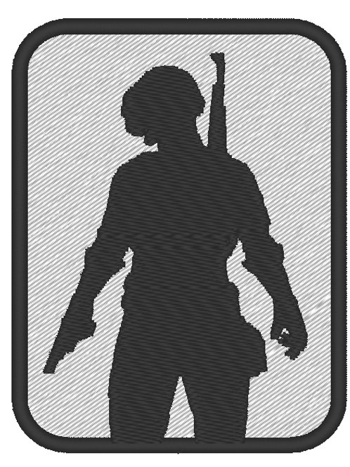 GAME - COSPLAY PATCH - PUBG PLAYER UNKNOWN BATTLEGROUNDS SILHOUETTE