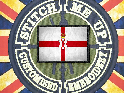 THERMAL IMAGE VINYL ARTISTIC STYLE  N.IRELAND FLAG
