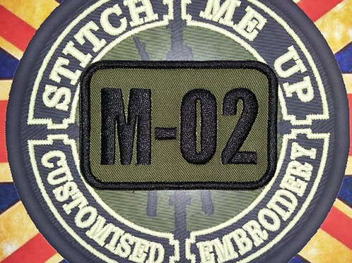 EMBROIDERED CALLSIGNS VARIOUS FABRIC BATCH 1