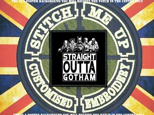 BATMAN PATCH STRAIGHT OUTTA GOTHAM