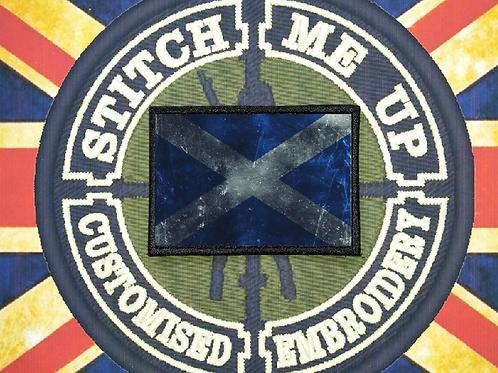THERMAL IMAGE VINYL ARTISTIC STYLE  SCOTLAND FLAG