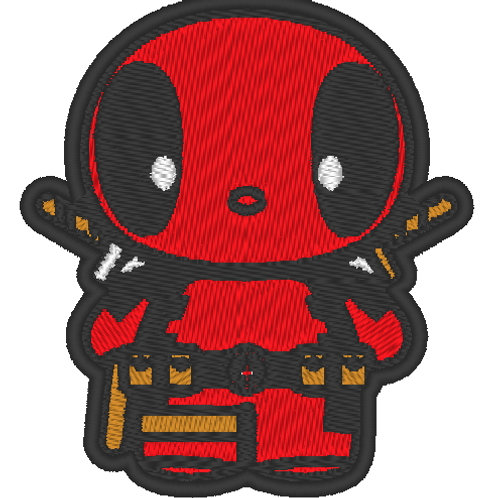 EMBROIDERED MORALE PATCH -CHIBI DEADPOOL