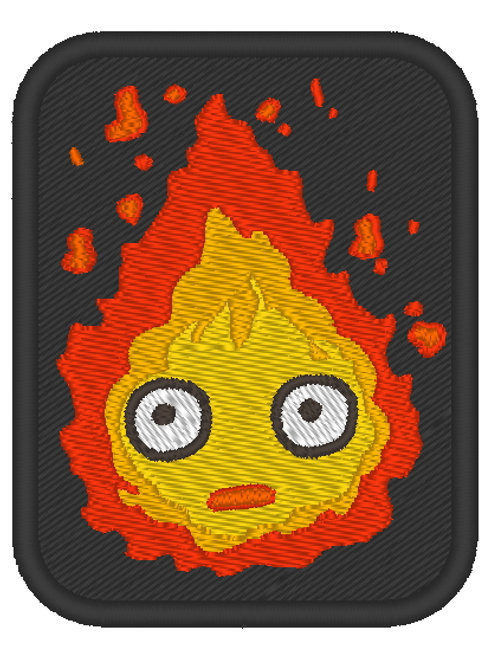 EMBROIDERED ANIME MORALE PATCH - CALCIFER STUDIO GHILBI
