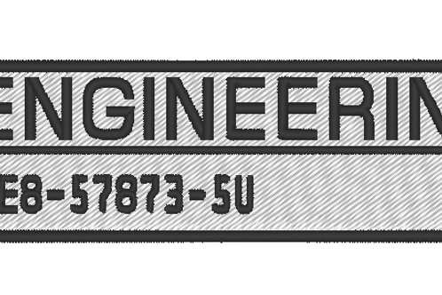 THE EXPANSE EMBROIDERED ENGINEERING OVERALLS NAMEPLATE