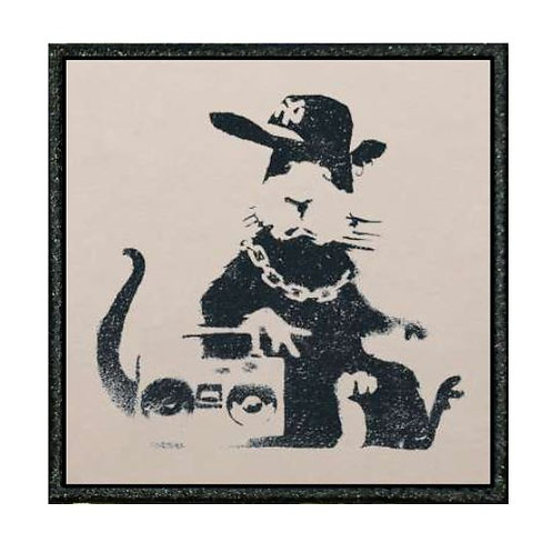 THERMAL VINYL -BANKSY - GANGSTA RAT