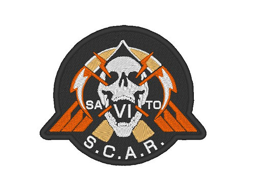 EMBROIDERED PATCH - S.C.A.R INSPIRED BY CALL OF DUTY