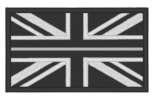 EMBROIDERED LARGE THIN SILVER LINE HM PRISON SERVICE