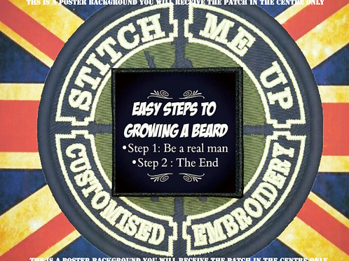 MORALE PATCH - EASY STEPS TO GROWING A BEARD