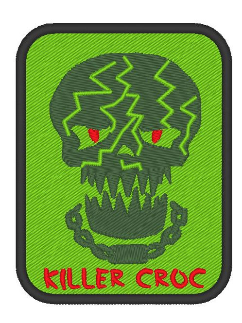 EMBROIDERED TV / MOVIE PATCH - SUICIDE SQUAD LOGO KILLERCROC