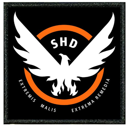 "VINYL PATCH OF  ""SHD"" FROM THE DIVISION V1"