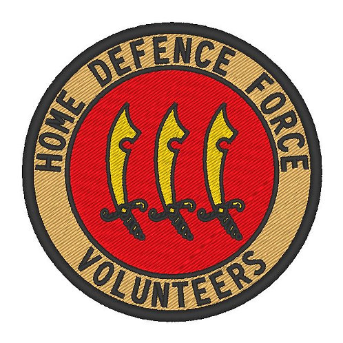 HOME DEFENCE FORCE VOLUNTEERS PATCH 93RD DIVISION