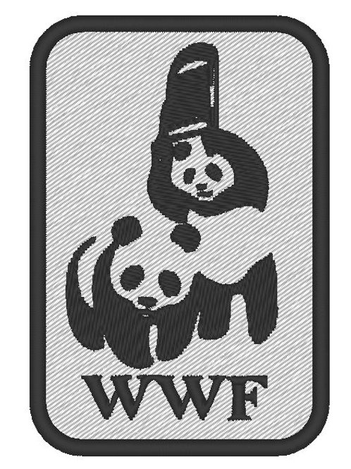 EMBROIDERED MORALE COSPLAY PATCH -  WWF PANDA PARODY BADGE