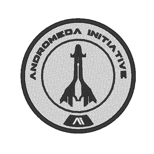 EMBROIDERED MASS EFFECT ANDROMEDA PATCH B&W