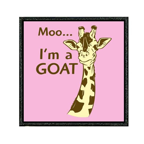 THERMAL VINYL PATCH - MOO IM A GOAT