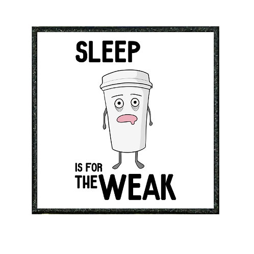THERMAL VINYL PATCH - SLEEP IS FOR THE WEAK