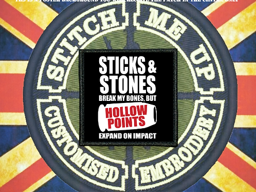 MORALE PATCH - STICKS AND STONES
