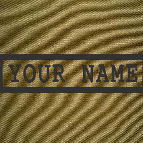 PERSONALISED EMBROIDERED NAMETAPES IN COYOTE BROWN