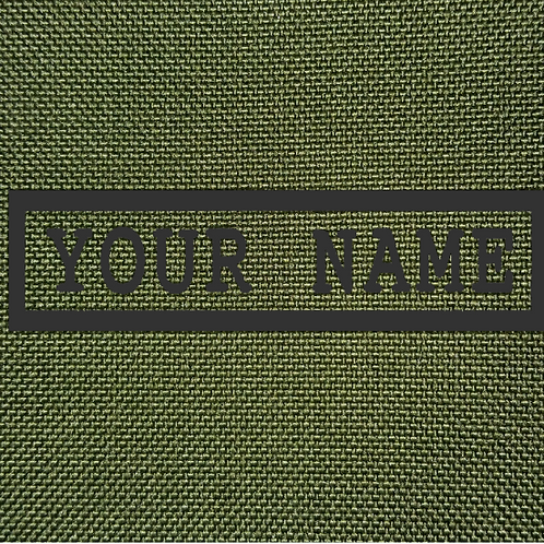 PERSONALISED EMBROIDERED NAMETAPES IN OLIVE GREEN
