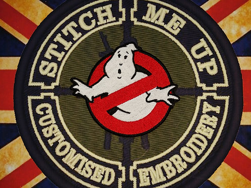 "EMBROIDERED ""GHOSTBUSTERS"" LOGO PATCH  GLOW IN THE DARK"