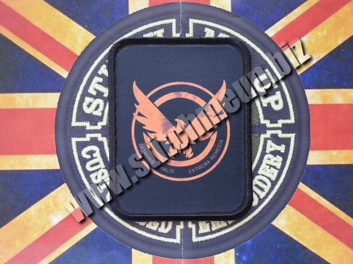 "VINYL PATCH OF  ""SHD"" FROM THE DIVISION V3"