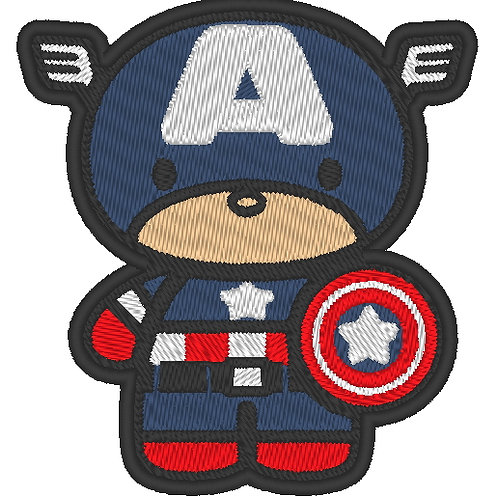 EMBROIDERED MORALE PATCH -CHIBI CAPTAIN AMERICA