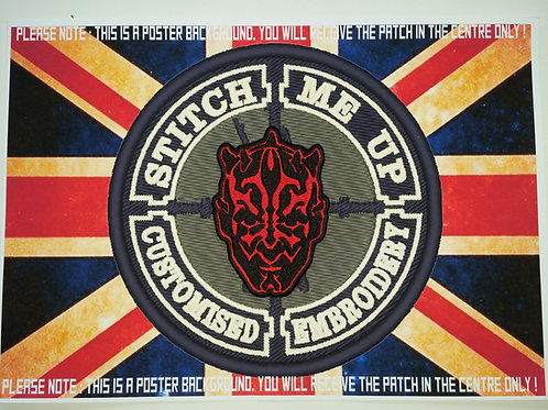 EMBROIDERED DARTH MAUL HEAD PATCH - STAR WARS