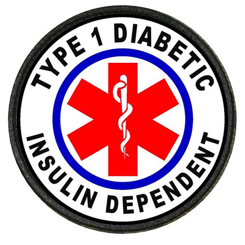 DIABETIC PATCH RED TYPE 1 INSULIN DEPENDENT