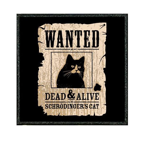 THERMAL VINYL PATCH - WANTED SCHRODINGERS CAT