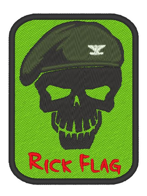 EMBROIDERED TV / MOVIE PATCH - SUICIDE SQUAD LOGO RICK FLAG
