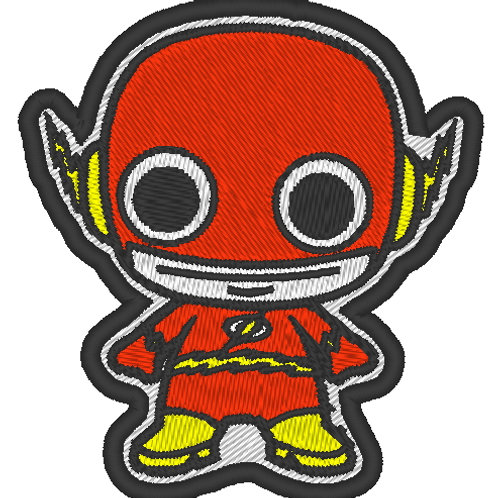 EMBROIDERED MORALE PATCH -CHIBI FLASH