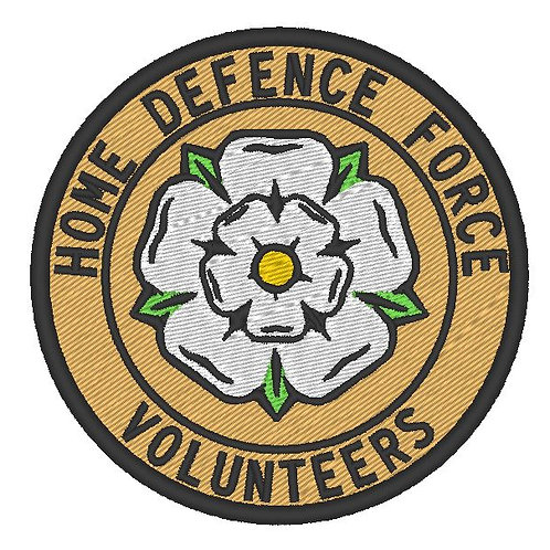 HOME DEFENCE FORCE VOLUNTEERS PATCH YORKSHIRE DIVISION