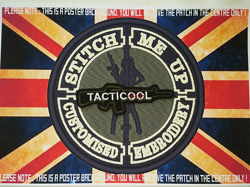 """EMBROIDERED PATCH M16 SHAPED WITH """"TACTICOOL"""""""