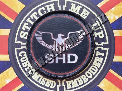 "VINYL PATCH OF  ""SHD"" FROM THE DIVISION V2"