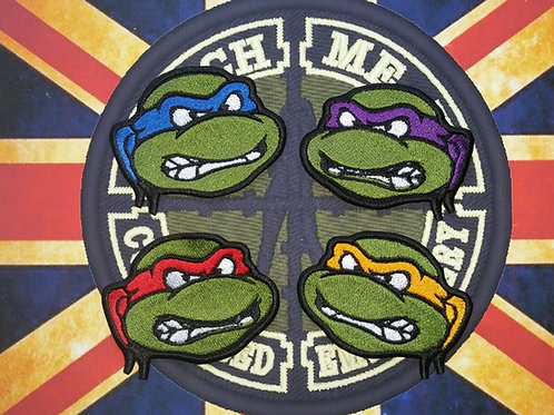 EMBROIDERED PATCHES OF ALL TMNT HEADS
