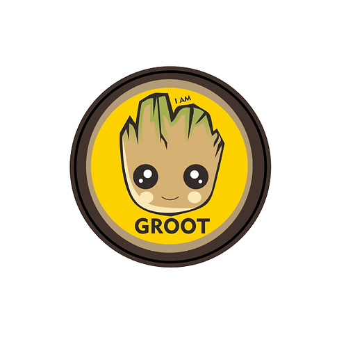 GUARDIANS OF THE GALAXY GROOT PATCH IN THERMAL IMAGE VINYL