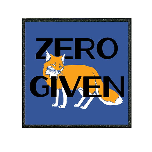 THERMAL VINYL PATCH - ZERO GIVEN